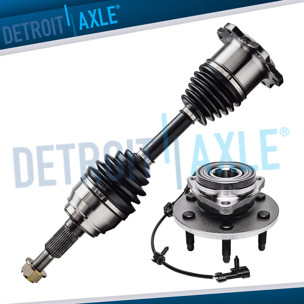 4x4 Front Axle Assembly : Front cv axle drive shaft wheel hub bearing assembly w