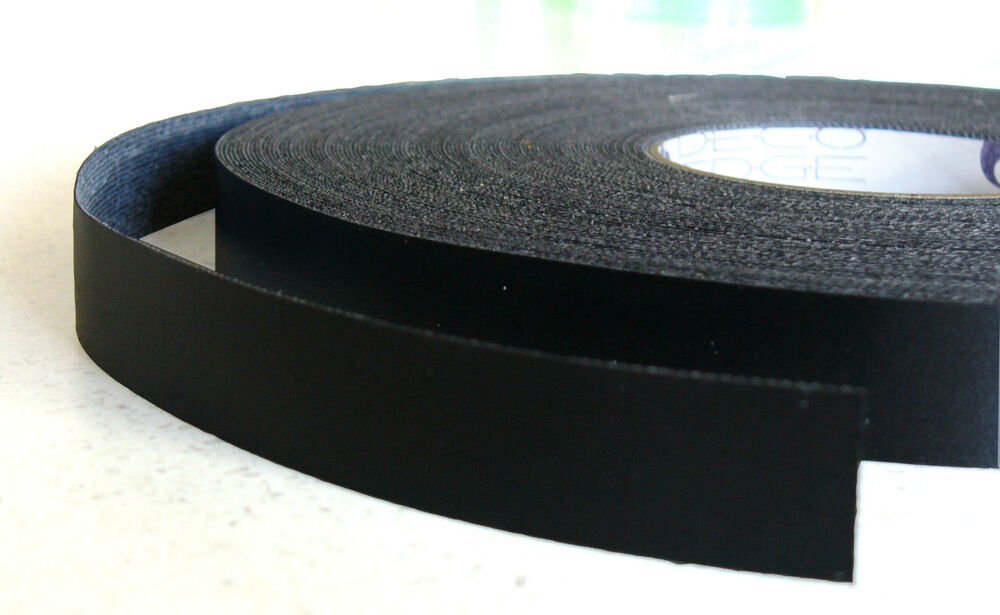 Black Melamine Edge Tape 21mm X 50m Pre Glued Iron On