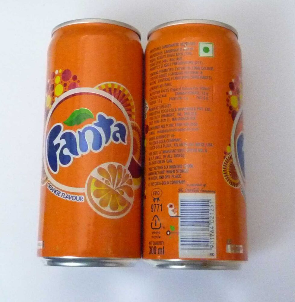 fanta orange coke cola can india orange 300ml tall 2012. Black Bedroom Furniture Sets. Home Design Ideas