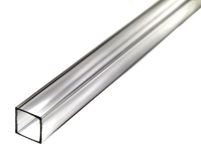 clear plastic tubes 6 square acrylic 500 od 1 16 quot wall 3ft 29214