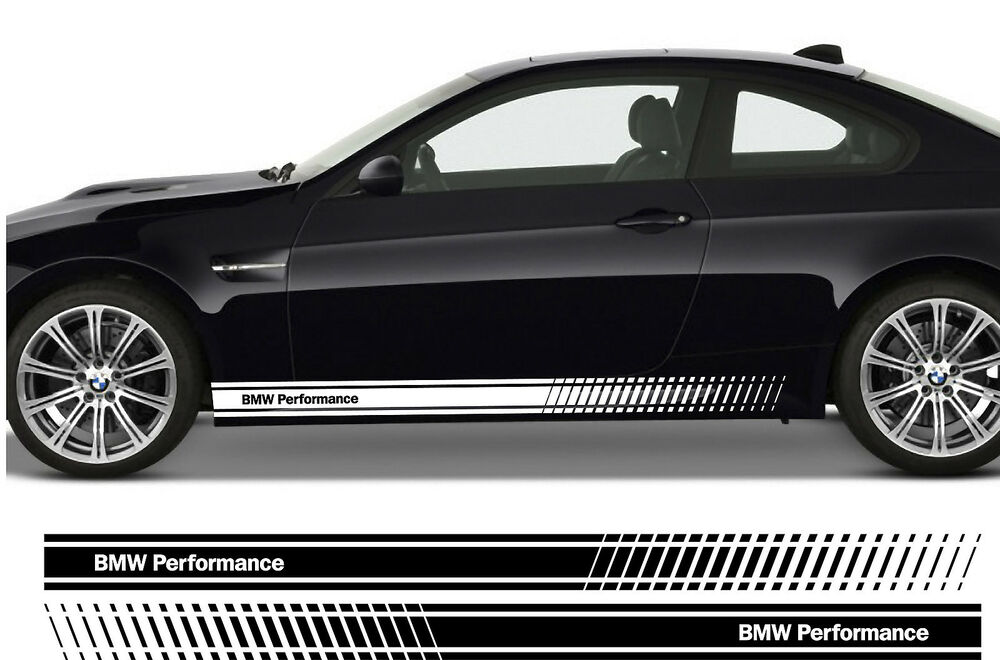 Bmw Performance Premium Side Stripes Stickers Decals