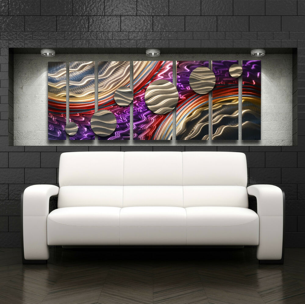 Large Metal Wall Art Panels Modern Contemporary Abstract Home Decor Painting Ebay