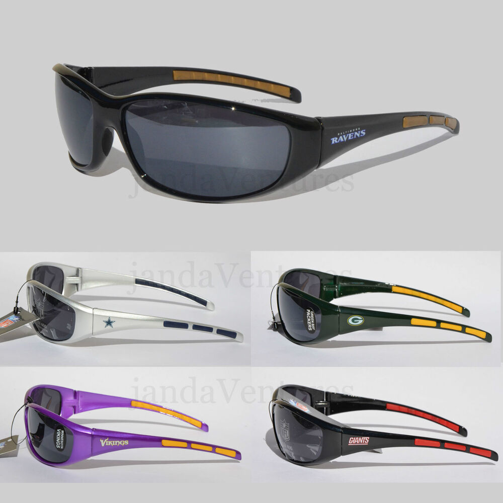 nfl football team sunglasses wrap style uv 400 protection ebay. Black Bedroom Furniture Sets. Home Design Ideas