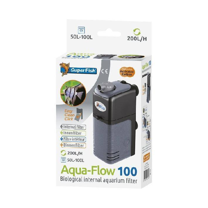 Superfish aquarium fish tank aqua flow 100 internal filter for 100 gallon pond filter