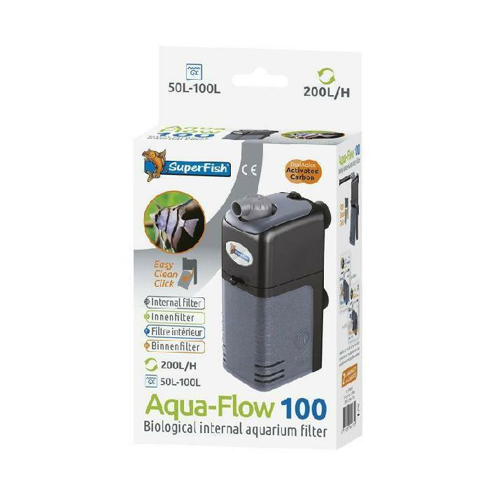 superfish aquarium fish tank aqua flow 100 internal filter 50l to 100l ebay. Black Bedroom Furniture Sets. Home Design Ideas