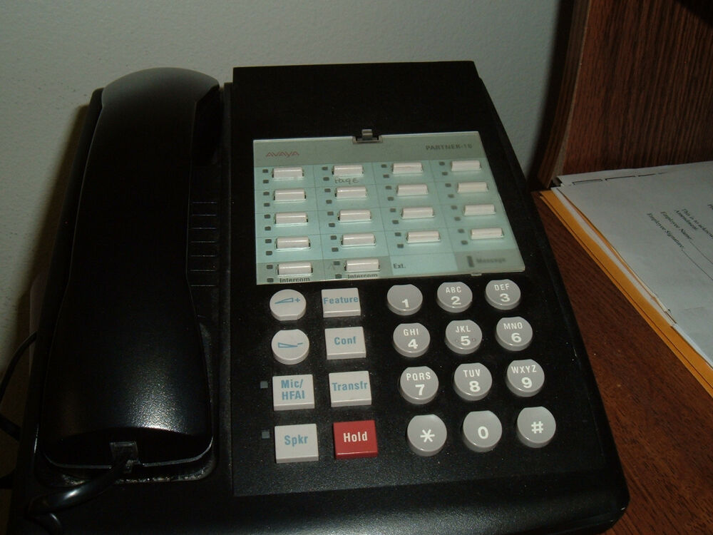 avaya partner 18 euro style telephone refurbished warranty ebay. Black Bedroom Furniture Sets. Home Design Ideas