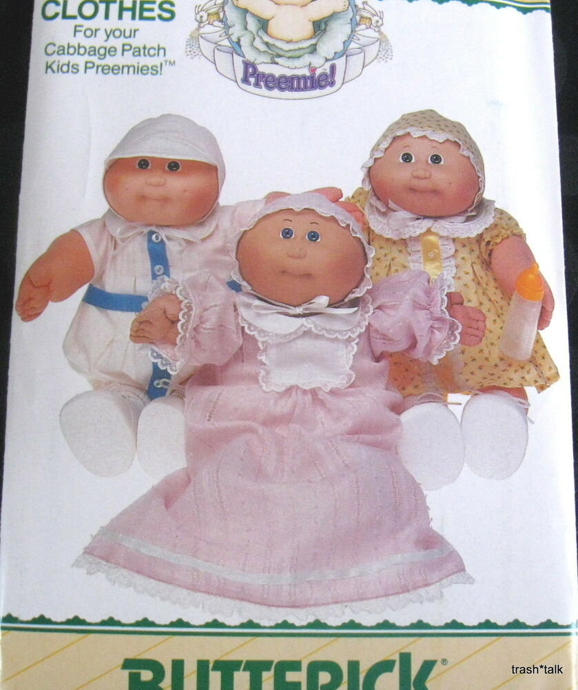 Cabbage Patch Doll Clothes Pattern Preemie nightgown dress ...