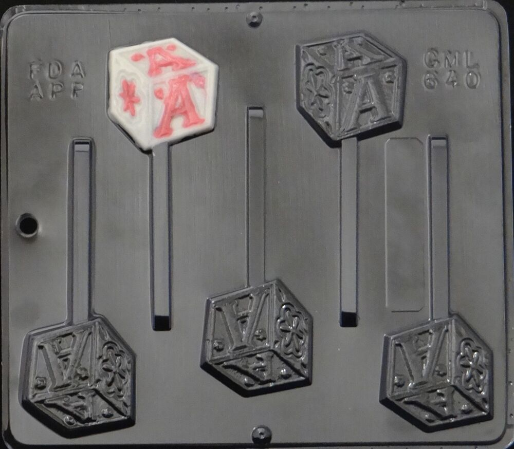 baby block lollipop chocolate candy mold baby shower 640 new ebay