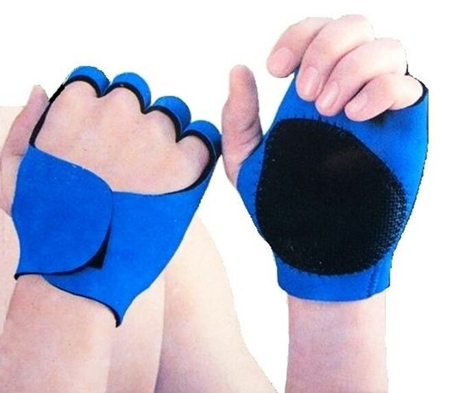 Neoprene Weight Lift Training Workout Gym Palm Exercise: Blue Neoprene Sport Gloves Gym Weight Lifting Fitness Gym