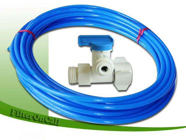Ice Maker Kit Refrigerator Feed Water Adapter Poly Tube