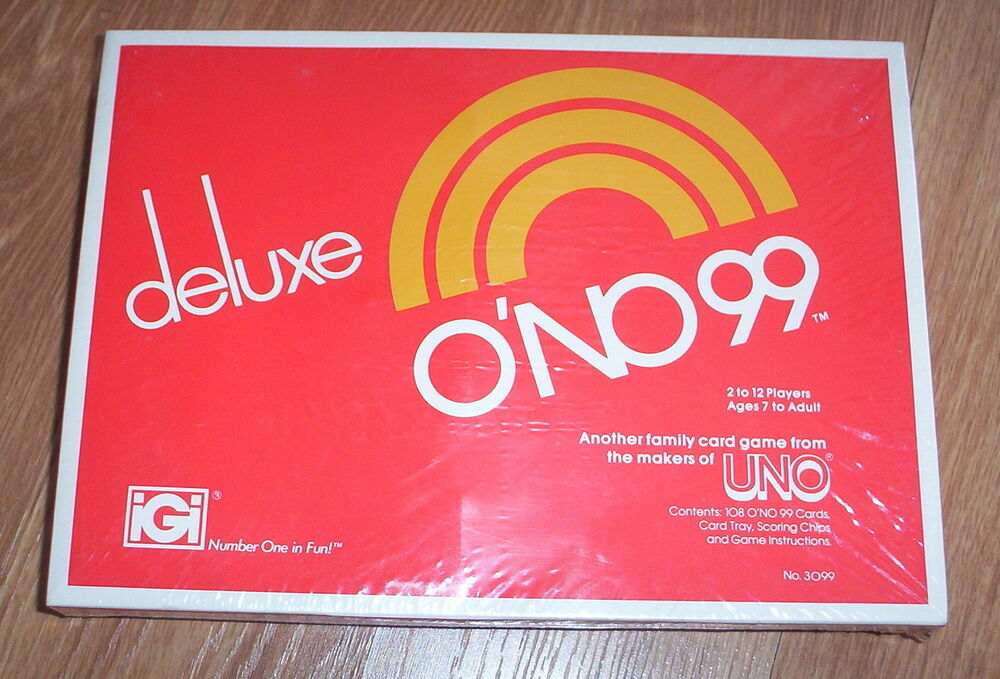 DELUXE ONO 99 Card Game From UNO Cards Chips Ins Unopened