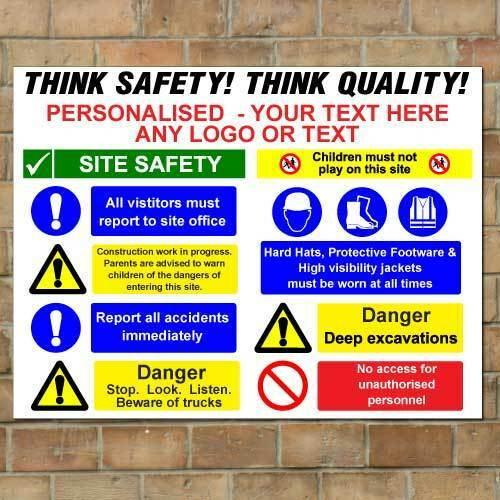 Information Site: Personalised Building Site Safety Sign, Custom