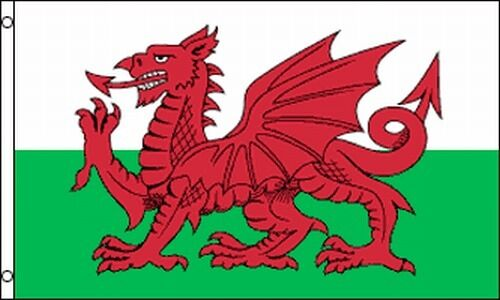 Flag of Wales 3x5 Welsh Banner UK Red Dragon of Cadwaladr ...