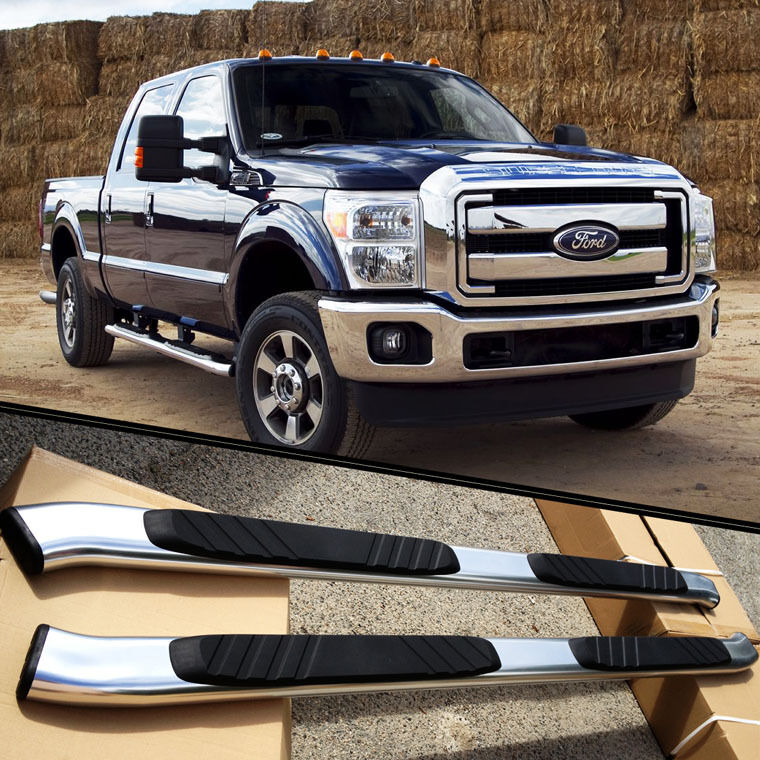 for 99 16 ford f250 crew cab aluminum nerf bars side step oe style 5 oval ebay. Black Bedroom Furniture Sets. Home Design Ideas