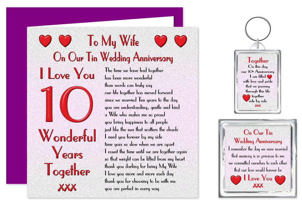 ... 24th Years Our Wedding Anniversary Card & Removable Keyring Gift