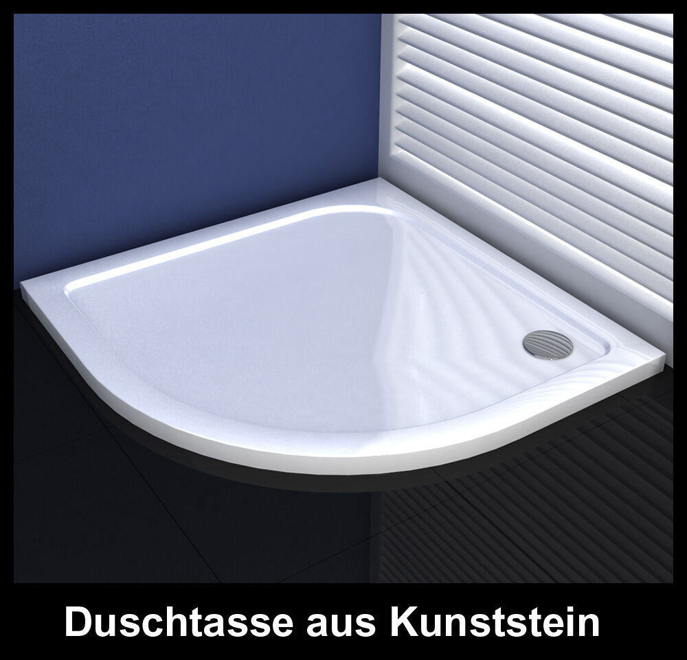 duschtasse 40mm schmallinie runddusche aus kunststein f r duschkabine dusche ebay. Black Bedroom Furniture Sets. Home Design Ideas