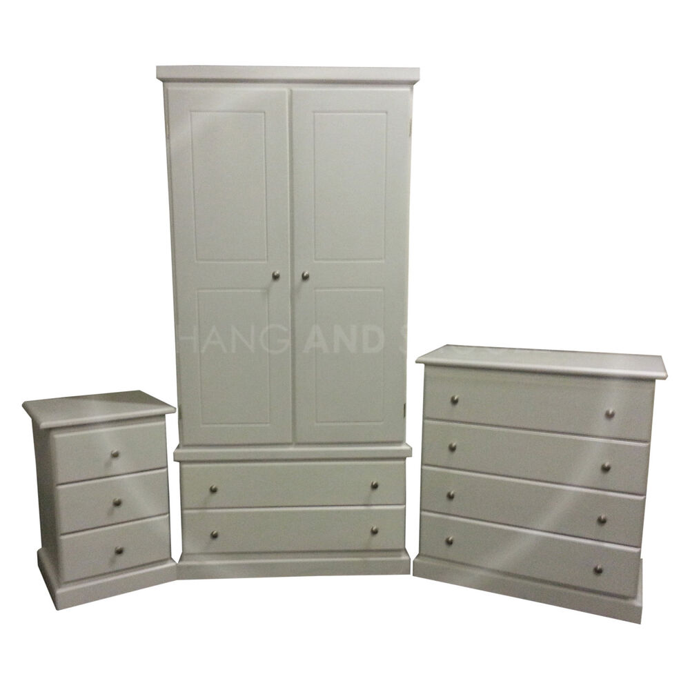 made furniture cambridge 3 piece bedroom set white assembled ebay