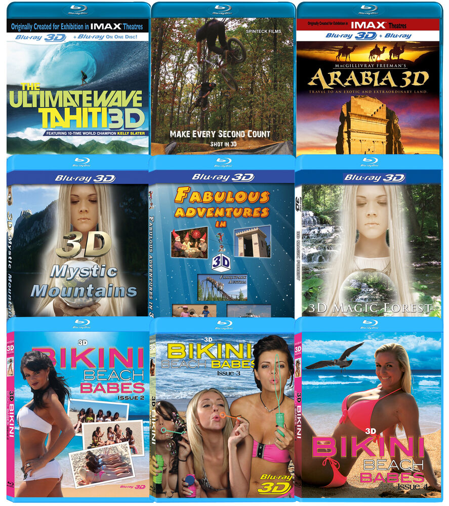 3D Blu-ray YOUR CHOICE IMAX Movies And More! Bluray For 3