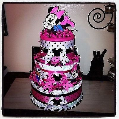 minnie mouse diaper cake baby shower or birthday ebay