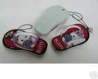 Hello Kitty Cutie Red Slipper CellPhone Charm Strap