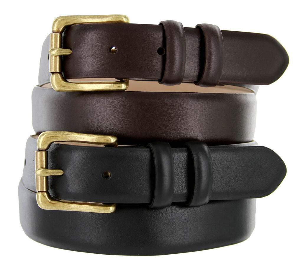 mens dress belt golf belts smooth calf skin leather belt