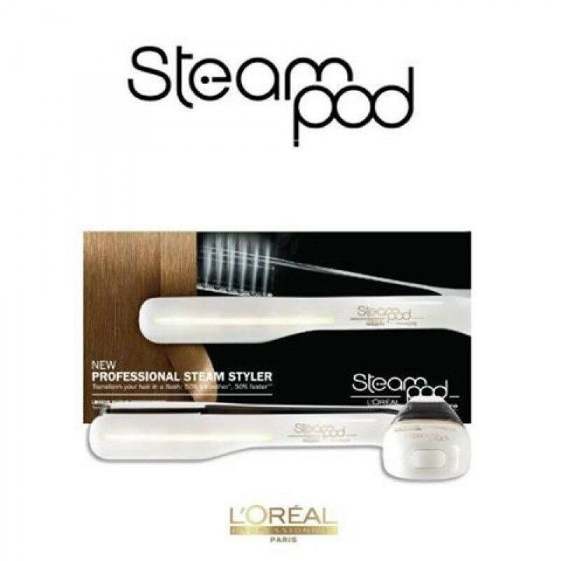 l 39 oreal steampod hair straightener loreal steam pod 2 0 white ebay. Black Bedroom Furniture Sets. Home Design Ideas