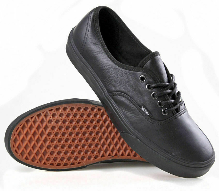 741492f5a4 VANS SHOES AUTHENTIC DECON ITALIAN LEATHER BLACK   BLACK US SIZES SCHOOL