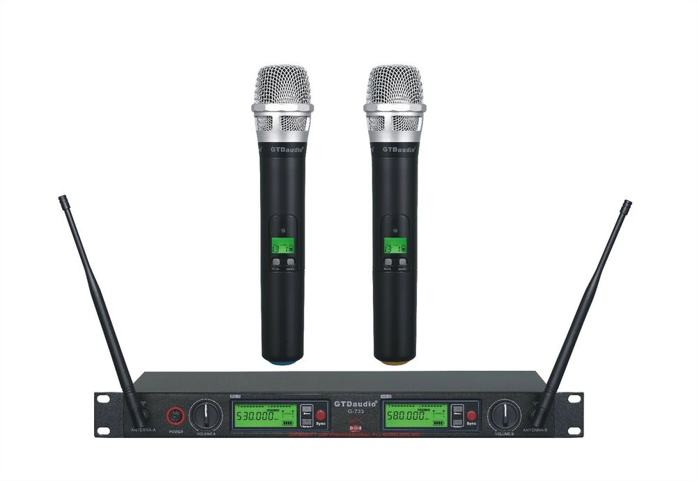 gtd audio 2x800 channel uhf diversity wireless microphone mic system g 788 ebay. Black Bedroom Furniture Sets. Home Design Ideas