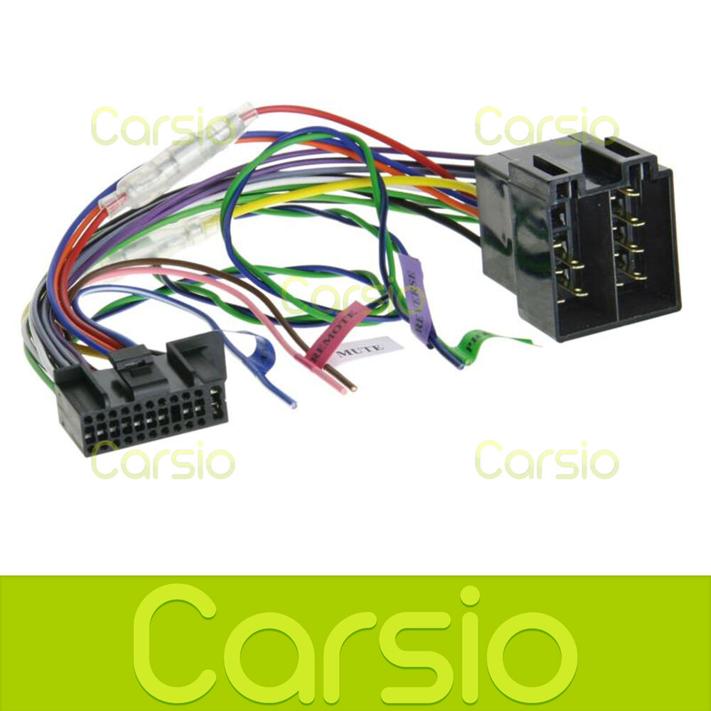 Iso Wiring Harness Connector Adaptor For Kenwood 12 Pin 22 Diagram Lead Cable Wire