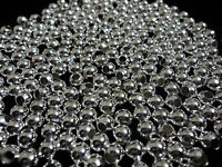 Silver Plated Round Metal Spacer Beads. 500 Pieces. 6mm