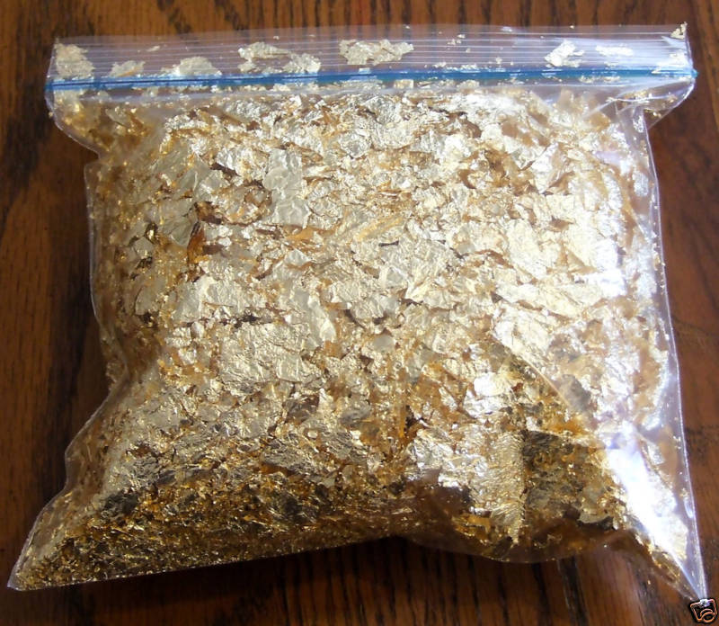 5 grams gold leaf flake huge beautiful flakes if not