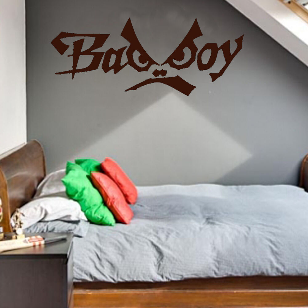 Bad boy graffiti wall art sticker vinyl wa050 teenage for Boys wall art