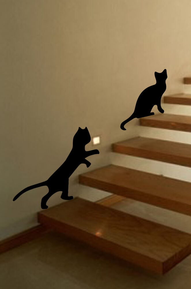 Playful Cats Wall Art Animal Vinyl Sticker Wa041 Ebay