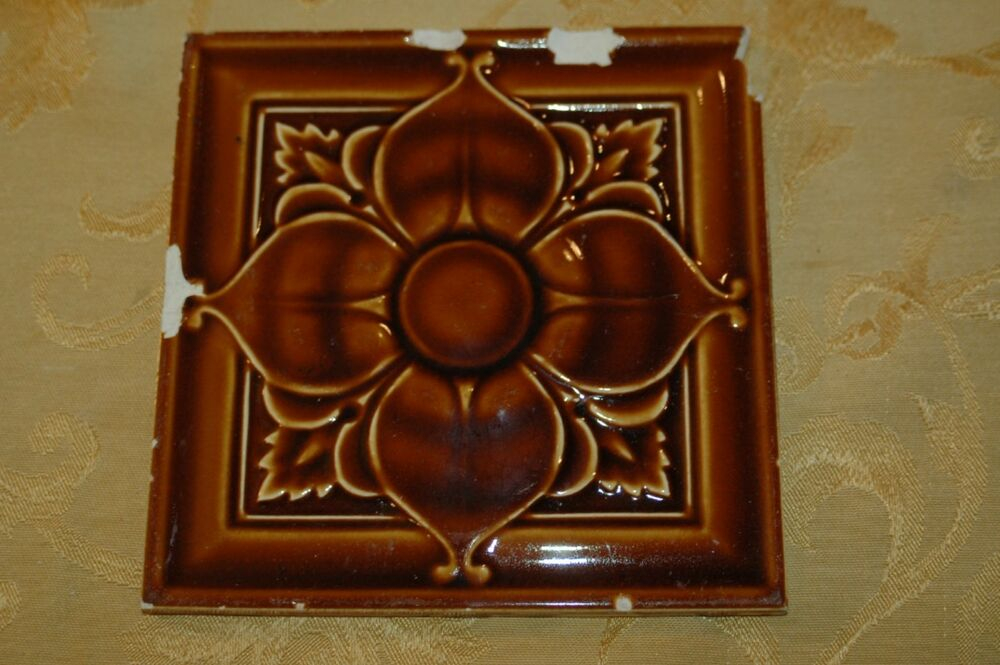 1 Antique Art Nouveau 6 Quot X6 Quot Floor Or Wall Tile 1890s Ebay