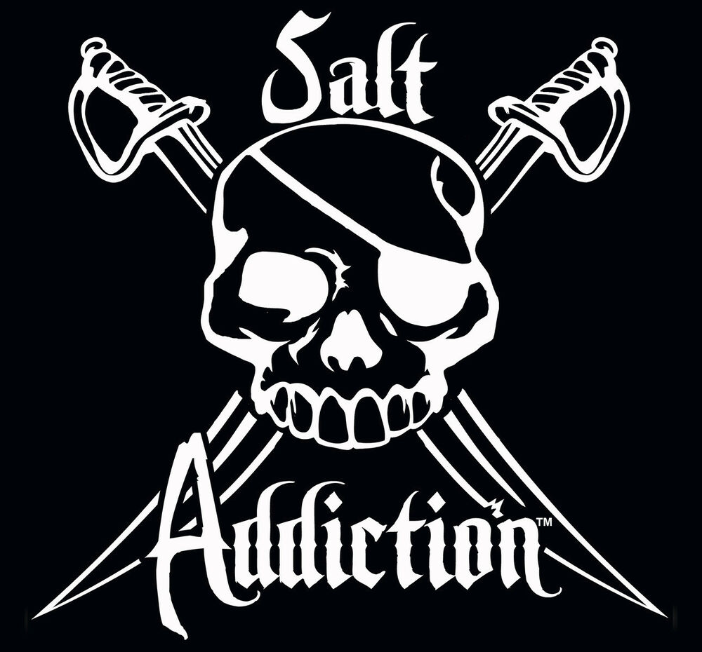 Salt addiction decal flats fishing sticker rod reel life for Saltwater fishing decals