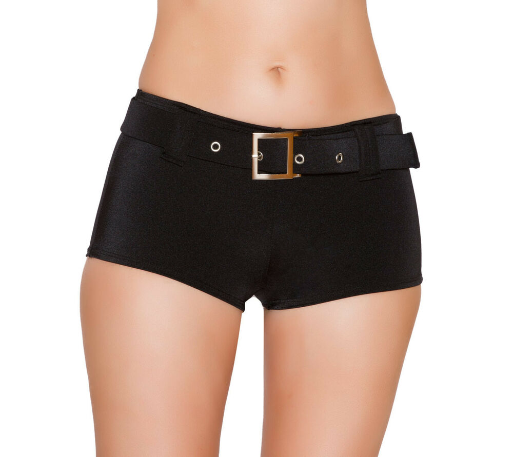 Sexy & Fun Low Rise Belted Booty Short Shorts Club Wear 12 ...