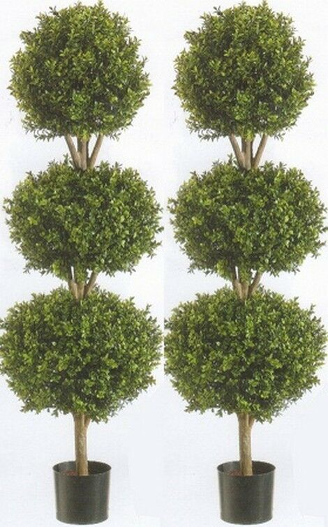 boxwood topiary trees 2 artificial 66 quot boxwood 3 topiary tree plant bush 5 1773