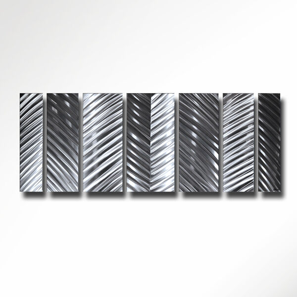 Modern Contemporary Art Abstract Metal Wall Sculpture Silver Design Home Deco