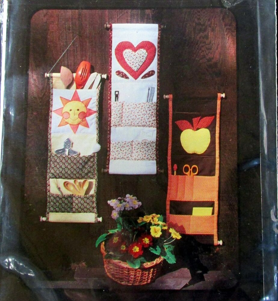 Wallhanging Pocket Organizer Home Decor Sewing Room Pattern Kitchen Helper 8x24 Ebay
