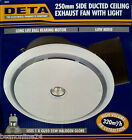 250mm Side Ducted Ceiling Exhaust Fan with Light