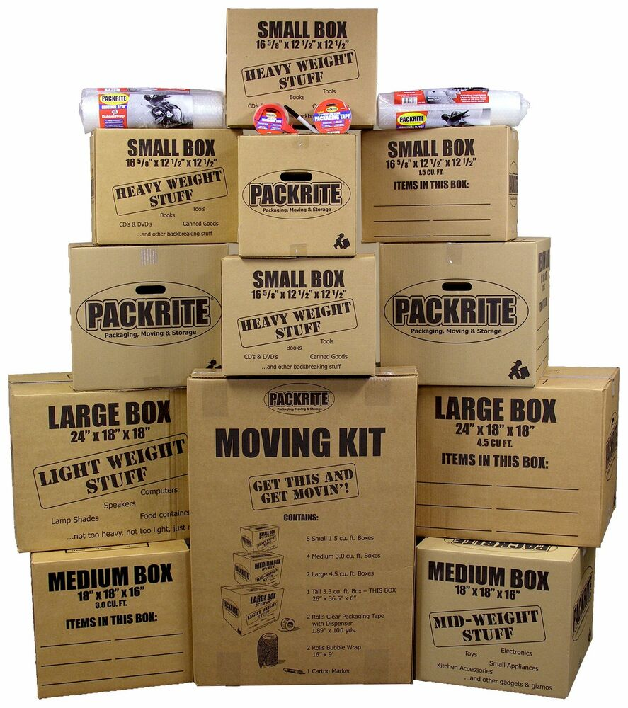 moving boxes kit heavy duty cardboard boxes and packing supplies for shipping ebay. Black Bedroom Furniture Sets. Home Design Ideas