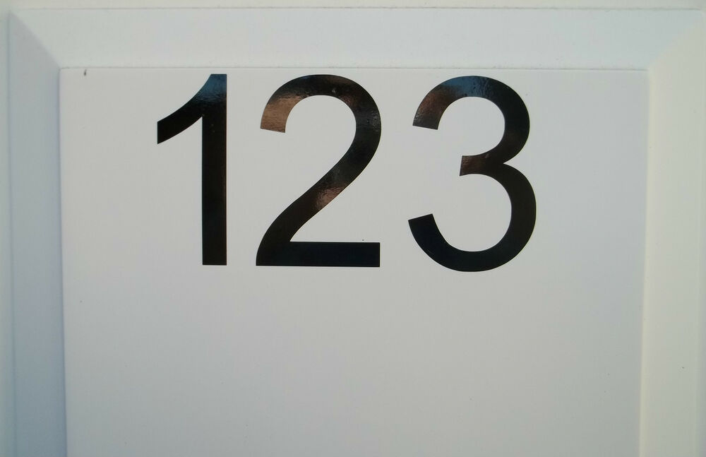 20cm caravan numbers decal stickers vinyl window door pvc for Window number
