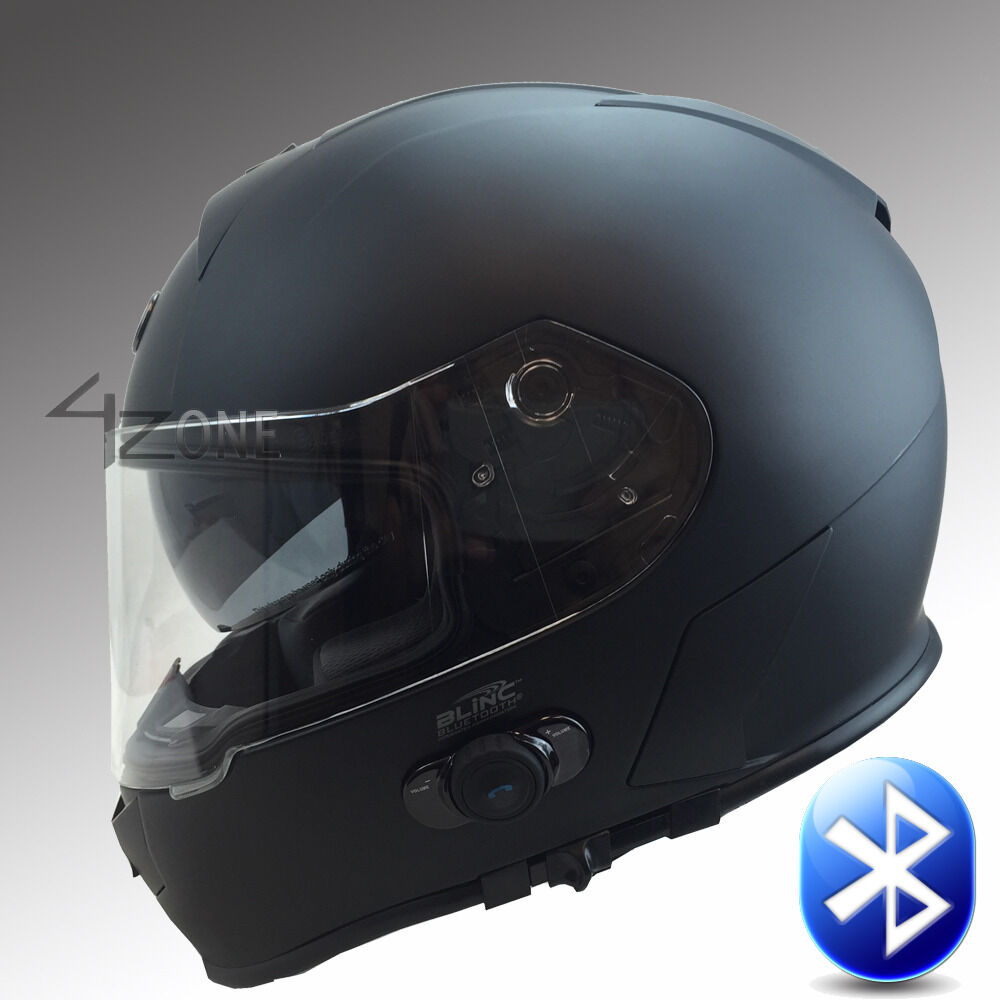 T14B FULL FACE MOTORCYCLE BLUETOOTH HELMET MATTE BLACK DOT ...