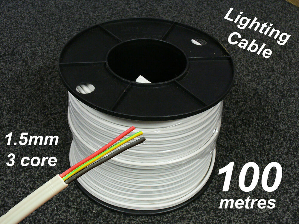 1 And 3 Core Cable : M roll electrical cable flat mm core c e