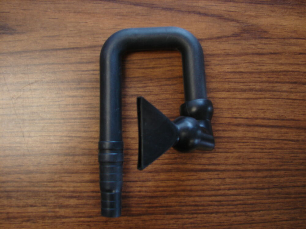 U shaped output tube for hanging on aquariums from filters