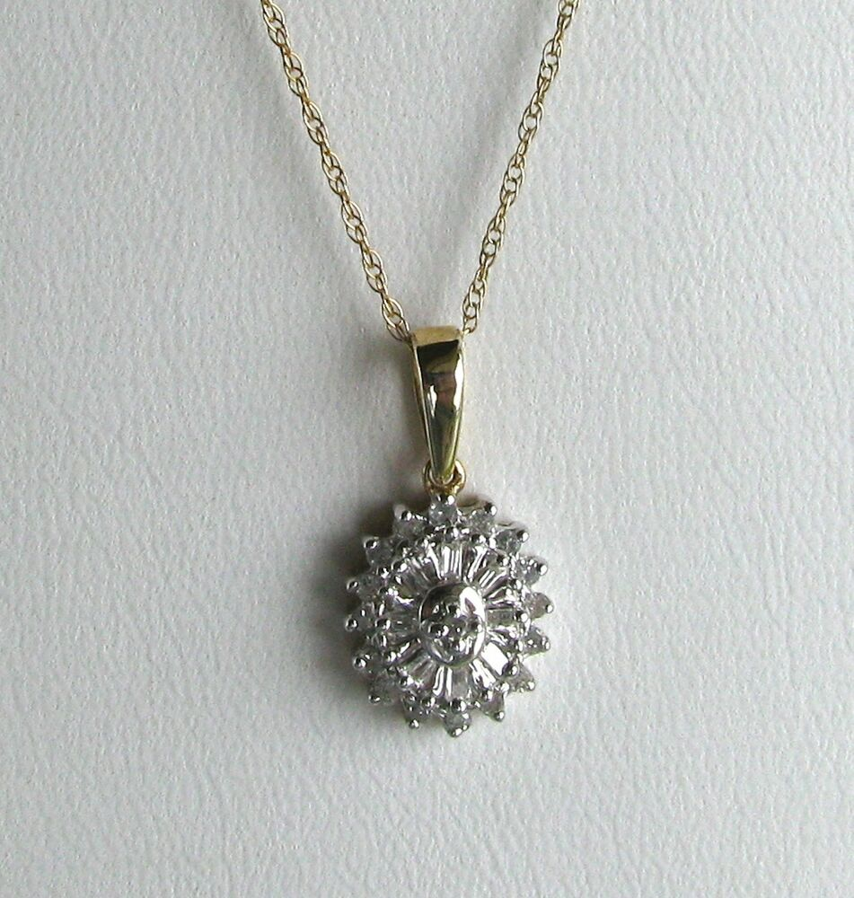 10k gold carat diamond oval pendant w 10k gold for 10k gold jewelry