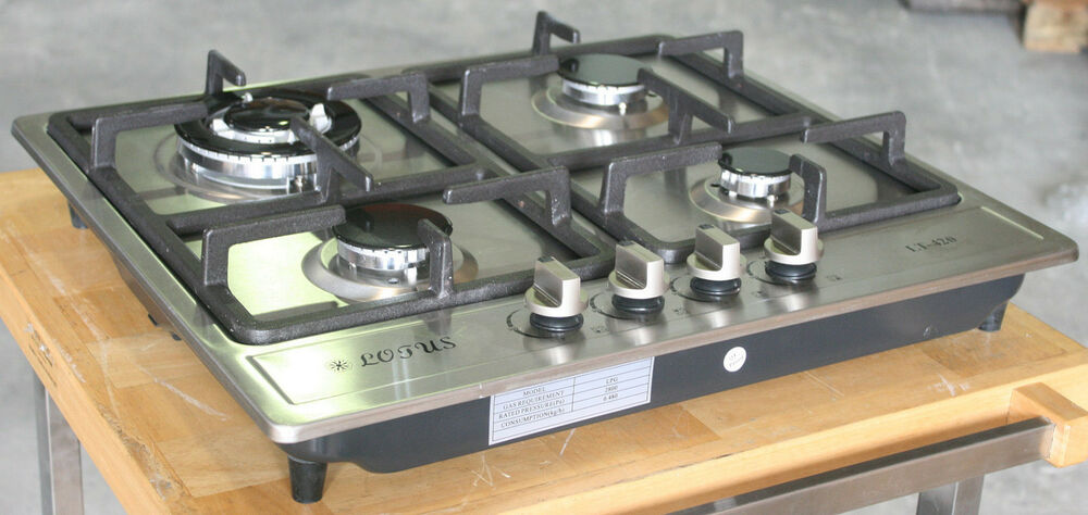 Propane Gas Stove Built In - Counter Top 4 Burner Cooktop Range ...