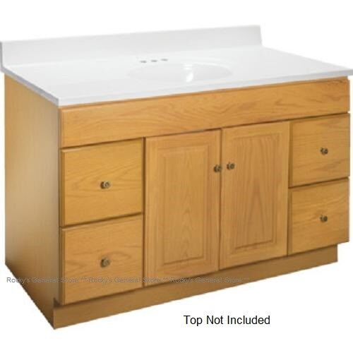Bathroom Vanity Cabinet Oak 48 Inches Wide X 21 Inches Deep New Fast Delivery Ebay