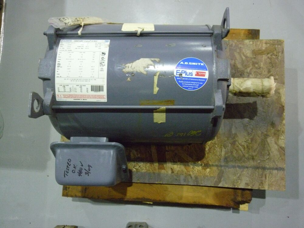 A o smith e457 20 hp century e plus 3 phase motor nos for 20 hp single phase motor