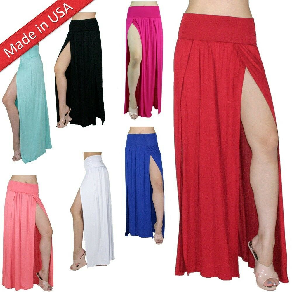 Double Slit Maxi Skirt | eBay